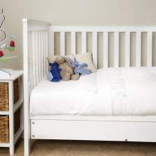 Blue Bunnies Cot Duvet Set