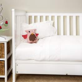 Pink Bunnies Cot Sheet Set
