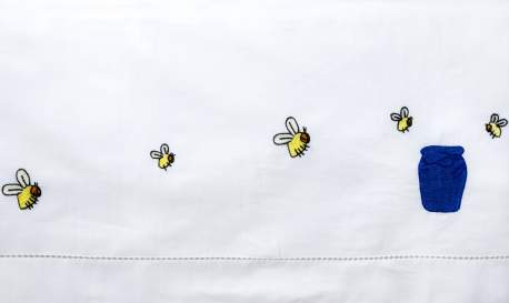 Bees and Honeypot Cot Sheet Set